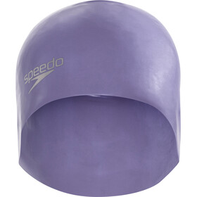 speedo Plain Moulded Silicone Cap Vita Grey